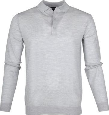 Profuomo Longsleeve Poloshirt Grau