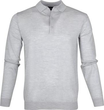 Profuomo Longsleeve Poloshirt Grey