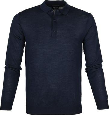 Profuomo Longsleeve Poloshirt Navy