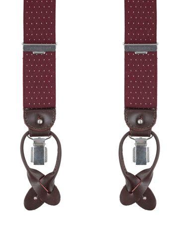 Profuomo Luxe Bretel Bordeaux-Wit