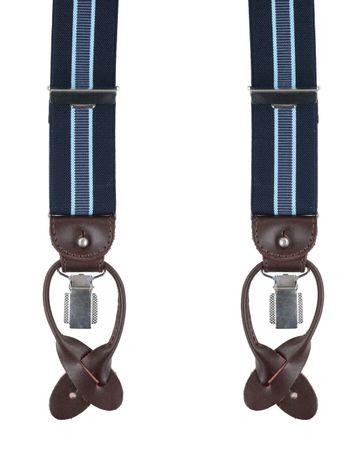 Profuomo Luxe Bretel Navy-Lichtblauw