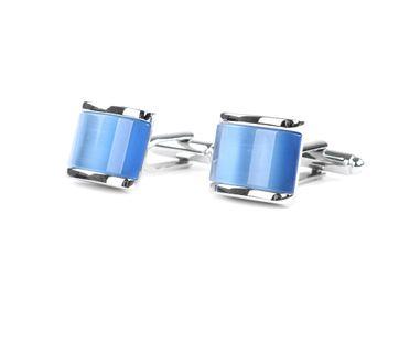Profuomo Manchetknopen Zilver Blauw