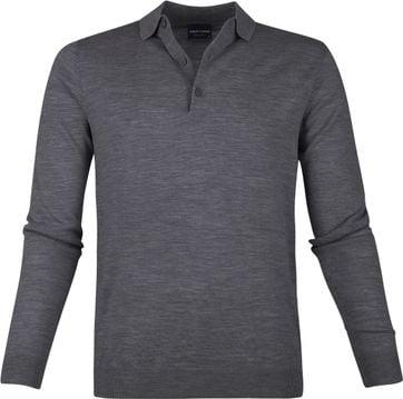 Profuomo Merino Poloshirt Dark Grey