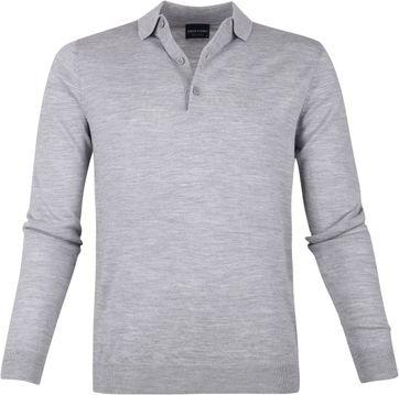 Profuomo Merino Poloshirt Grey