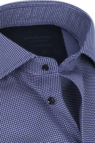 Profuomo Non-Iron Overhemd High Performance Donkerblauw