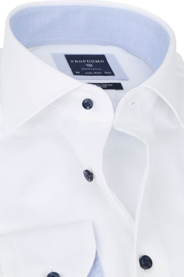 Profuomo Non-Iron Overhemd Wit