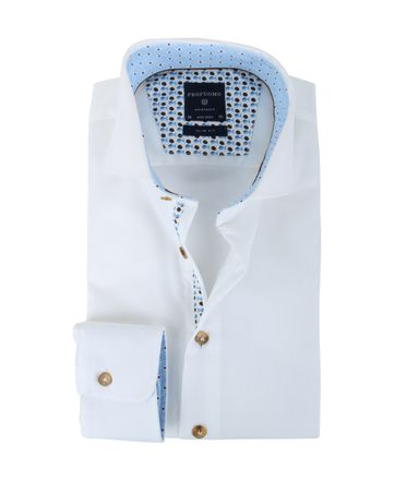 Profuomo Non Iron Slim Fit Overhemd Wit