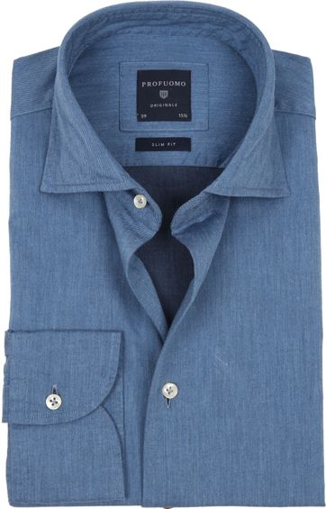 Profuomo Originale Overhemd Denim