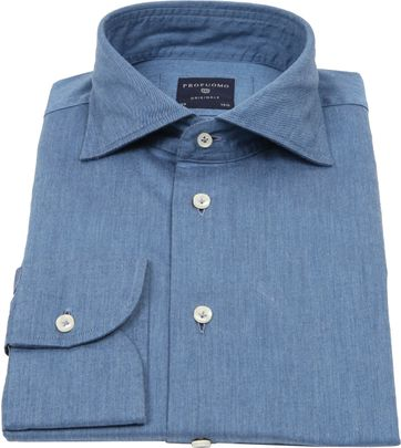 Profuomo Originale Overhemd Denim