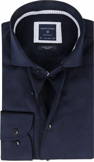 Profuomo Originale Overhemd Non-Iron Donkerblauw