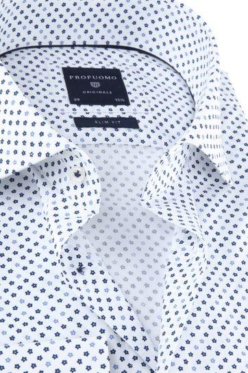 Profuomo Originale Overhemd Wit Print