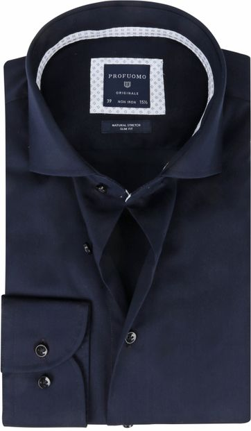 Profuomo Originale Shirt Non-Iron Dark Blue