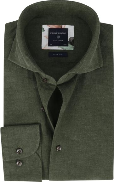 Profuomo Originale Shirt X Dark Green