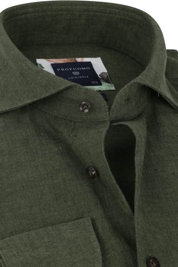 Profuomo Originale Shirt X Dark Green