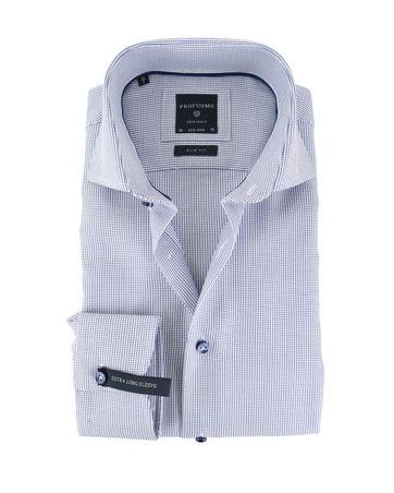 Profuomo Overhemd Blauw Punt SL7