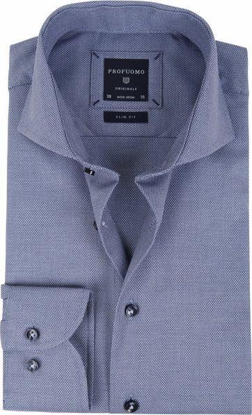Profuomo Overhemd Blauw SF Dessin