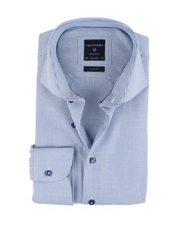Profuomo Overhemd Blauw SF Non Iron