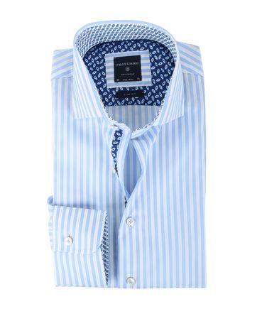 Profuomo Overhemd Blauw Streep