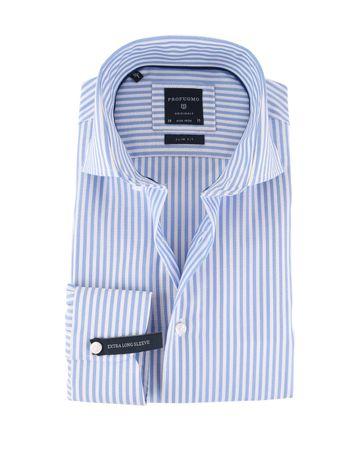 Profuomo Overhemd Blauw Streep Sleeve7