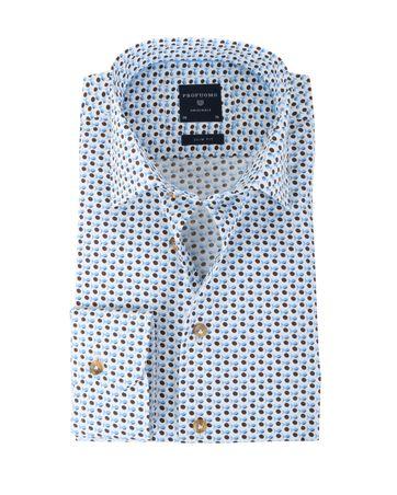 Profuomo Overhemd Blauwe Print