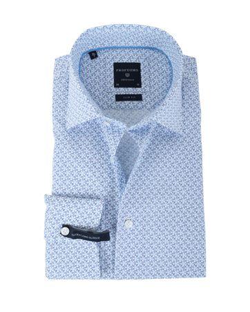 Profuomo Overhemd Blauwe Print SL7