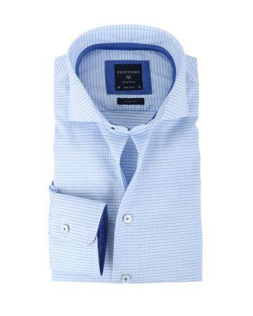 Profuomo Overhemd Blauwe Punt