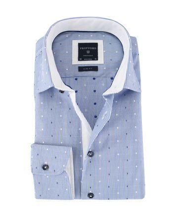 Profuomo Overhemd Blauwe Strepen