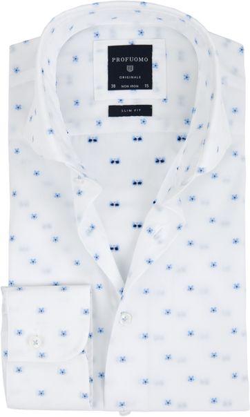 Profuomo Overhemd Bloem Wit