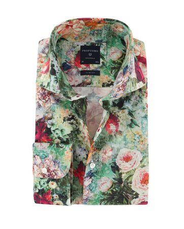 Profuomo Overhemd Bloemenprint
