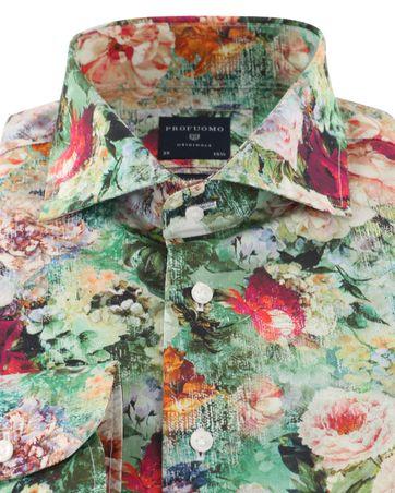 Detail Profuomo Overhemd Bloemenprint