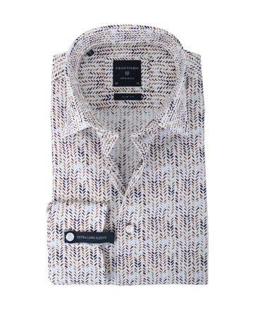 Profuomo Overhemd Bruine Print SL7