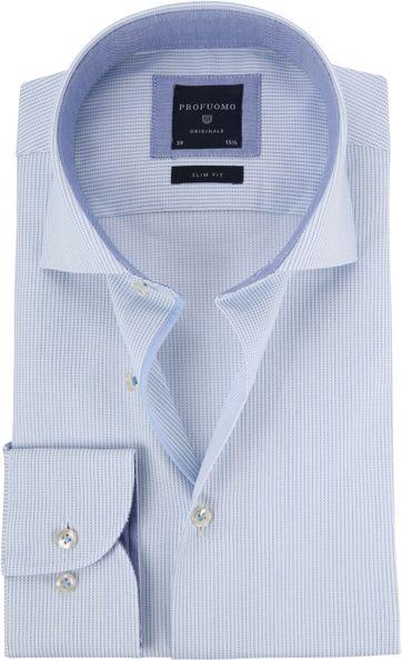 Profuomo Overhemd CAW Lichtblauw Dessin