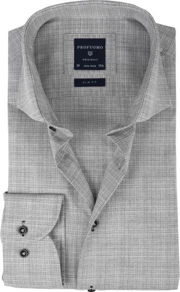 Profuomo Overhemd CAW Melange Grijs