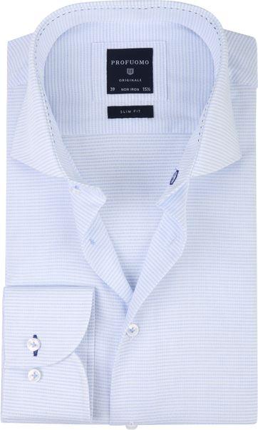 Profuomo Overhemd CAW Streep Blauw