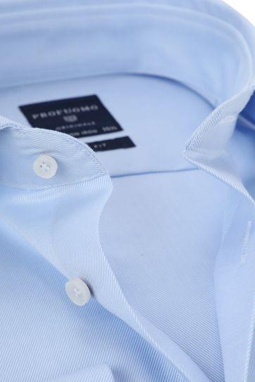 Profuomo Overhemd Cutaway Dubbelmanchet Blue