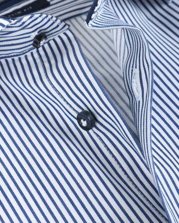 Detail Profuomo Overhemd Cutaway Streep