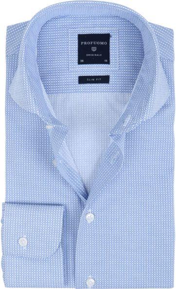 Profuomo Overhemd Dessin Blauw