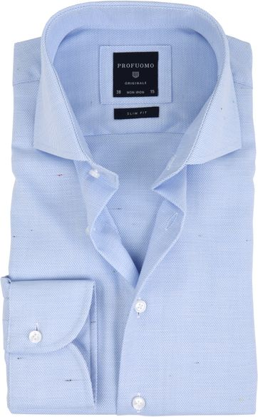 Profuomo Overhemd Dessin Blauw CAW