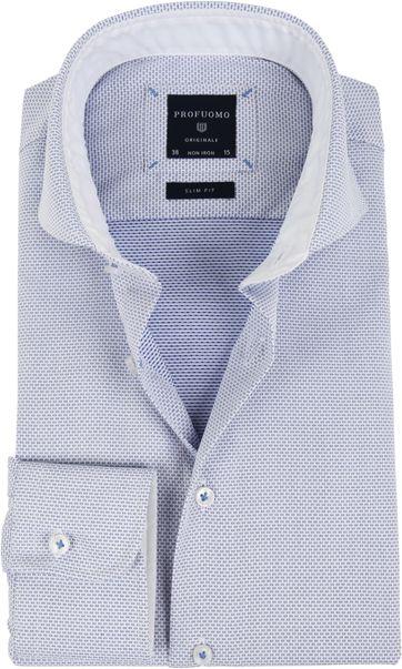 Profuomo Overhemd Dessin Blauw SF