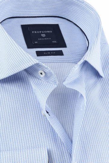 Profuomo Overhemd Dessin SF Blauw