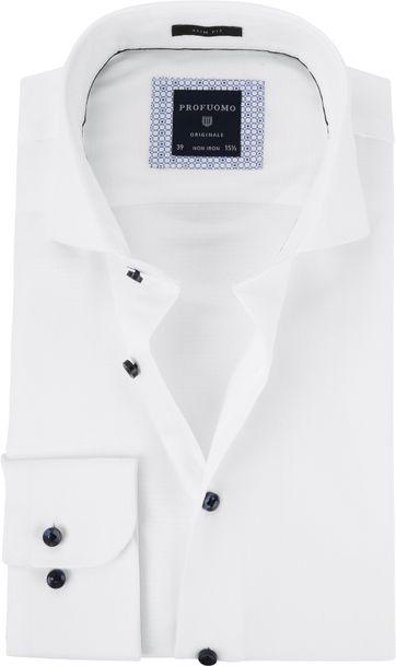 81f8171676b Profuomo Overhemd Dobby Wit
