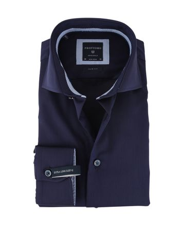 Profuomo Overhemd Donkerblauw SL7