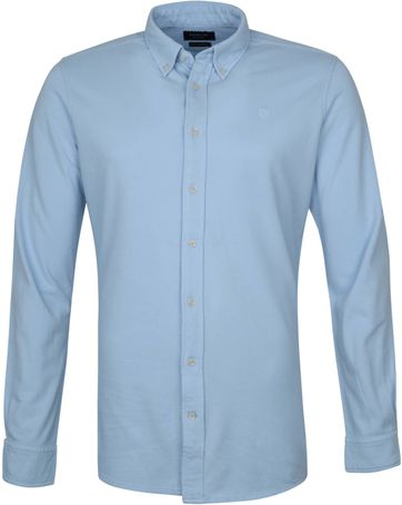 Profuomo Overhemd Garment Dyed Button Down Lichtblauw