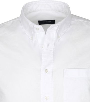 Profuomo Overhemd Garment Dyed Wit