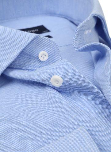Profuomo Overhemd Knitted Blauw