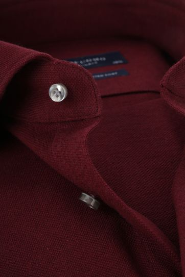 Profuomo Overhemd Knitted Bordeaux