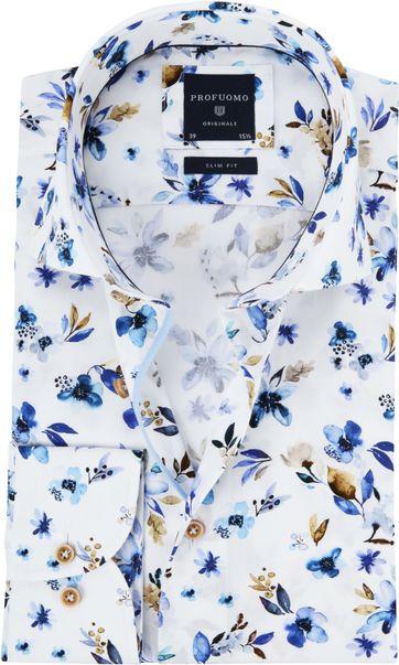 Profuomo Overhemd Leggiuno Flowers Blue
