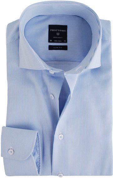 Profuomo Overhemd Lichtblauw Gestreept