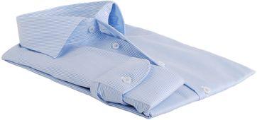 Detail Profuomo Overhemd Lichtblauw Gestreept