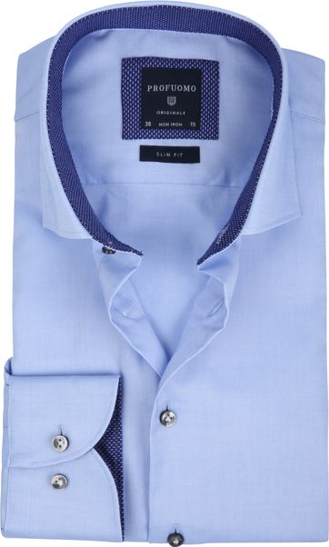 Profuomo Overhemd Non Iron Blauw